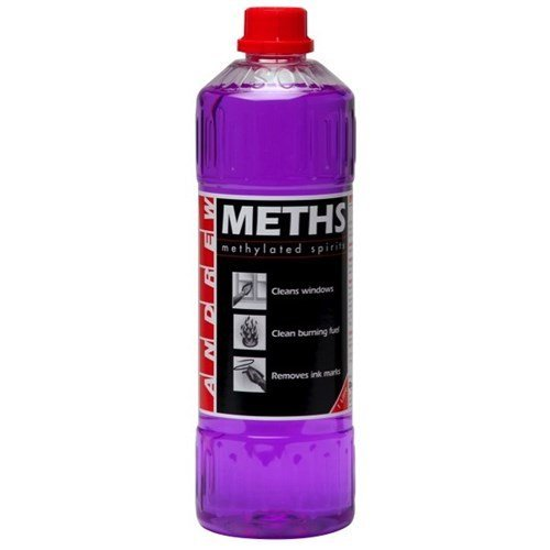 Methylated spirits, used to clean pewter before adding patina