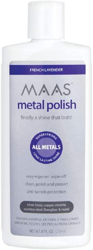 Metal Polish used to remove patina and polish pewter to a high shine