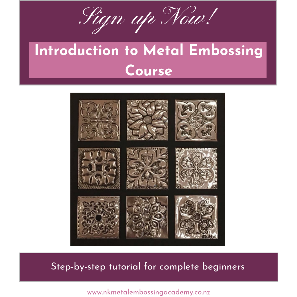 Metal Embossing Made EASY online course