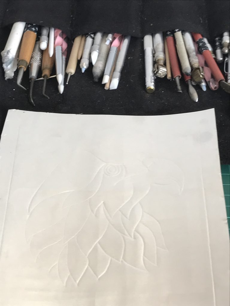 Ready to start embossing.