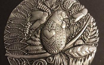 New Zealand Metal Bird Art Collector's Set by Pewter Artist, Ninette Kruger