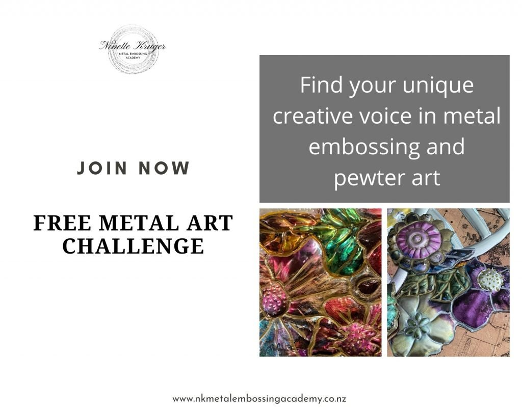 Free 5-Day Metal Embossing Art Challenge