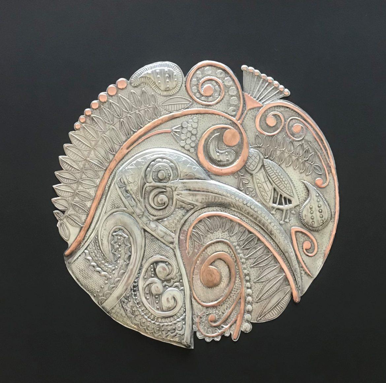 Pewter Kiwi's Lace artwork by Ninette Kruger