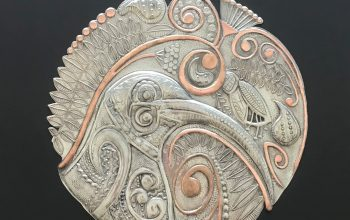 Pewter Kiwi's Lace artwork – An art collaboration between Ninette Kruger & Anna Mollekin