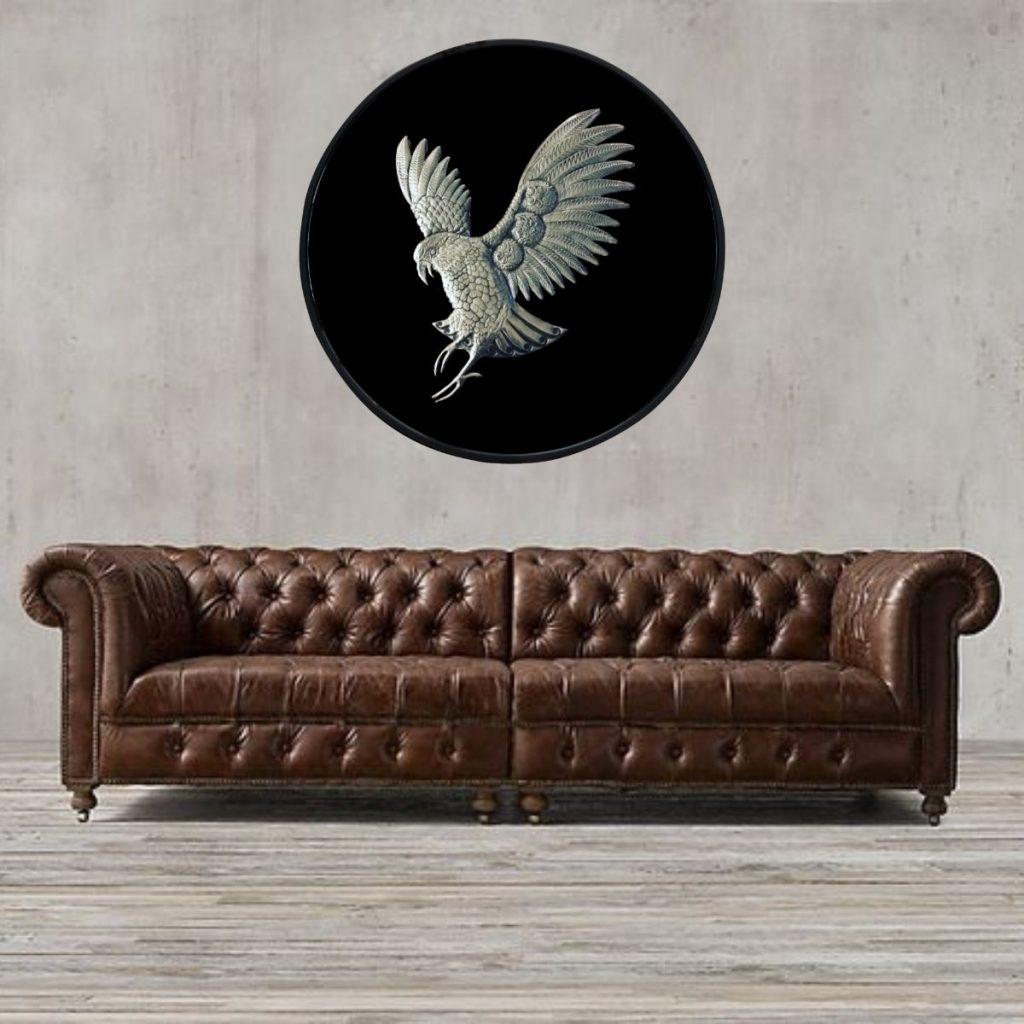 New Zealand metal Kea bird wall art