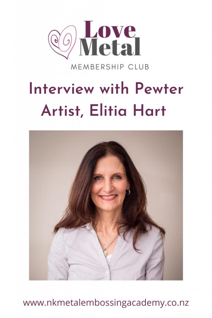 Pewter artist and tutor Elitia Hart